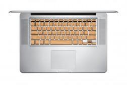 Stickers en bois (Cherry ) pour clavier MacBook Lazerwood