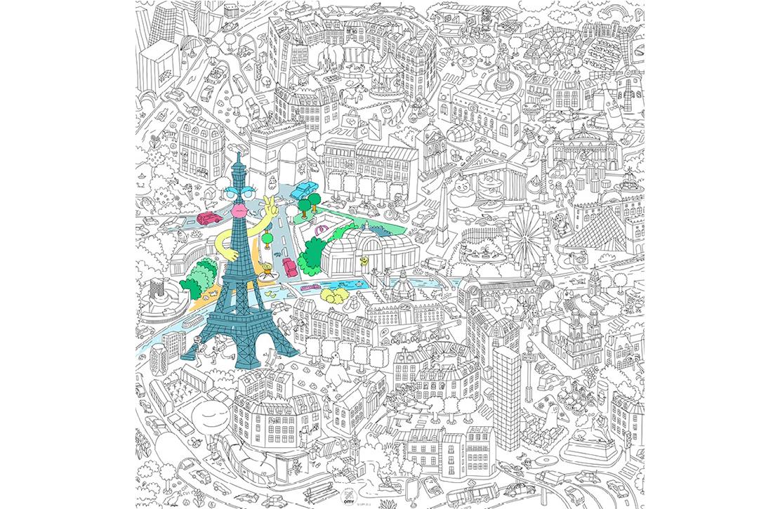 Coloriage g ant ville de paris par omy - Poster xxl paris ...
