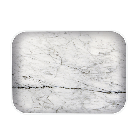 plateau osmose marbre blanc zak designs la collection. Black Bedroom Furniture Sets. Home Design Ideas