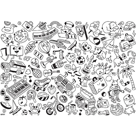 Poster g ant colorier pop omy la collection - Coloriage omy ...