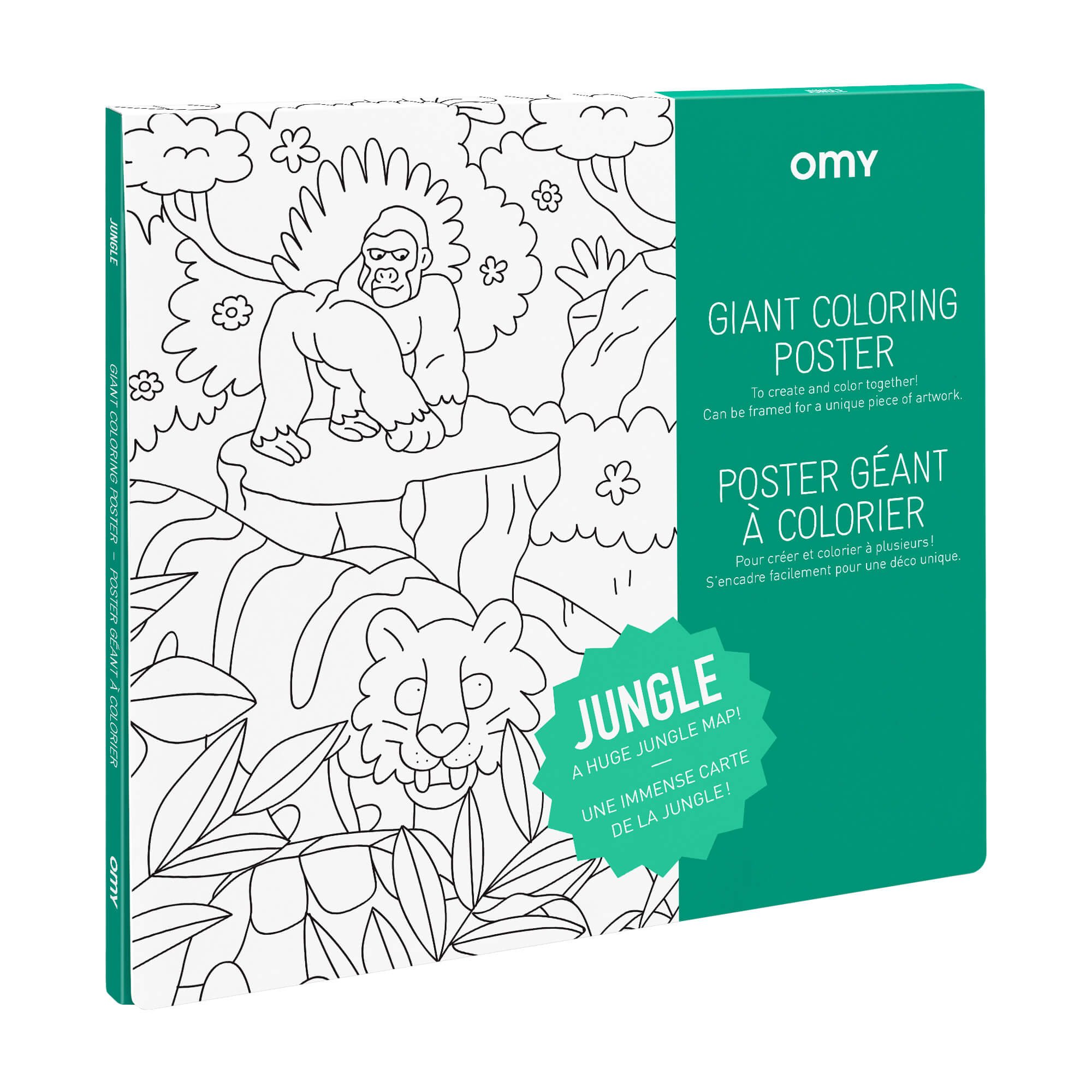 Coloriage Geant Animaux.Poster Geant A Colorier Jungle By Omy